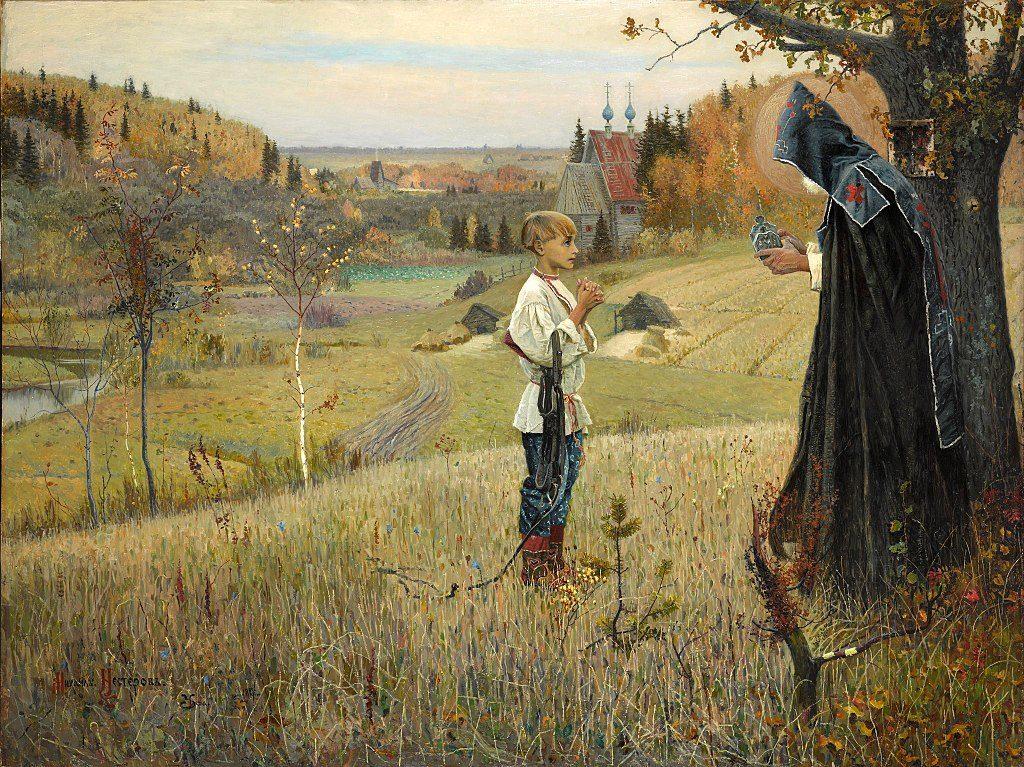 Михаил Нестеров / «Видение отроку Варфоломею» / 1889-90