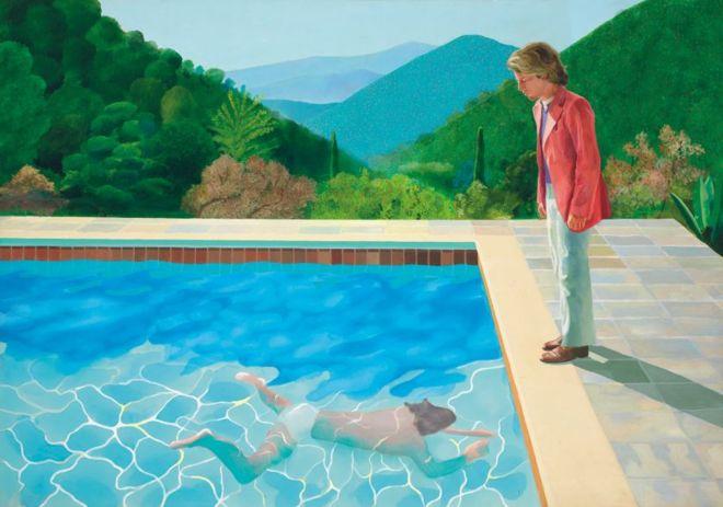 Дэвид Хокни / «Портрет художника (Бассейн с двумя фигурами)», продано на аукционе Christie's за $90,3 млн.