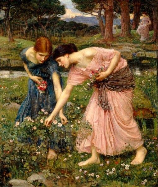 Джон Уильям Уотерхаус / «Срывайте розы поскорее» / 1909