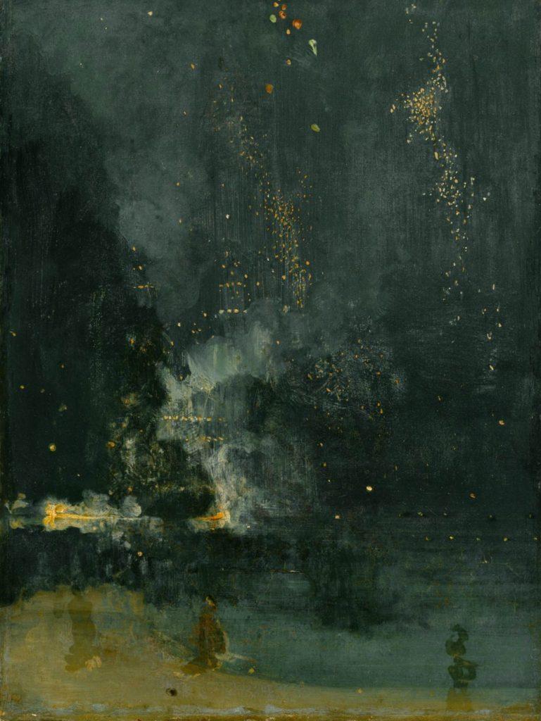 Джеймс Эббот Макнейл Уистлер / «Ноктюрн в черном и золотом. Падающая ракета» / 1875