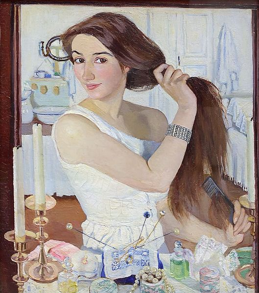 Зинаида Серебрякова / «За туалетом. Автопортрет» / 1909
