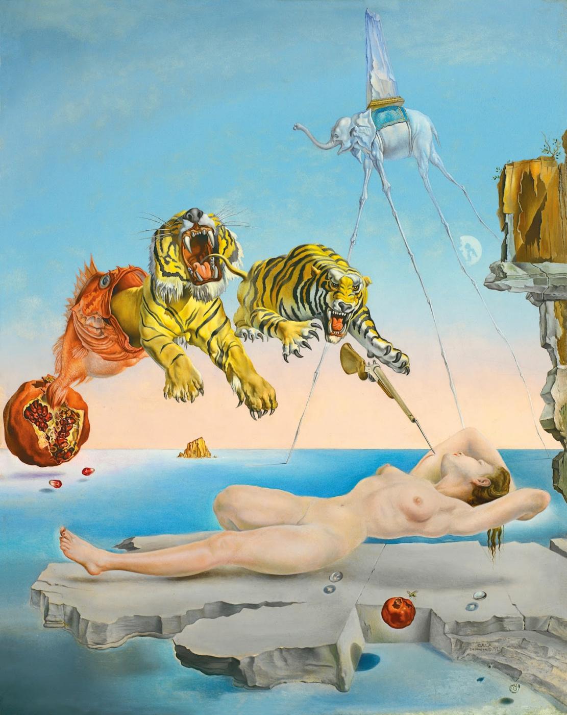Сальвадор Дали / «Сон, вызванный полётом пчелы вокруг граната, за секунду до пробуждения» / 1944