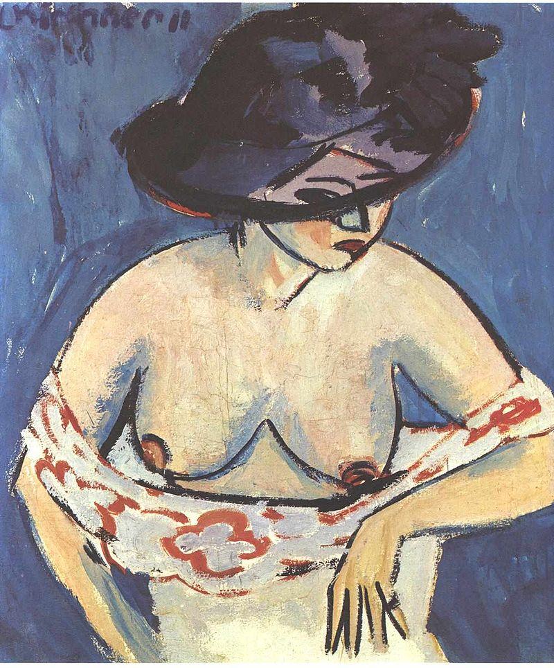 художник / Эрнст Людвиг КИРХНЕР (1880-1938) / «Женщина в шляпе