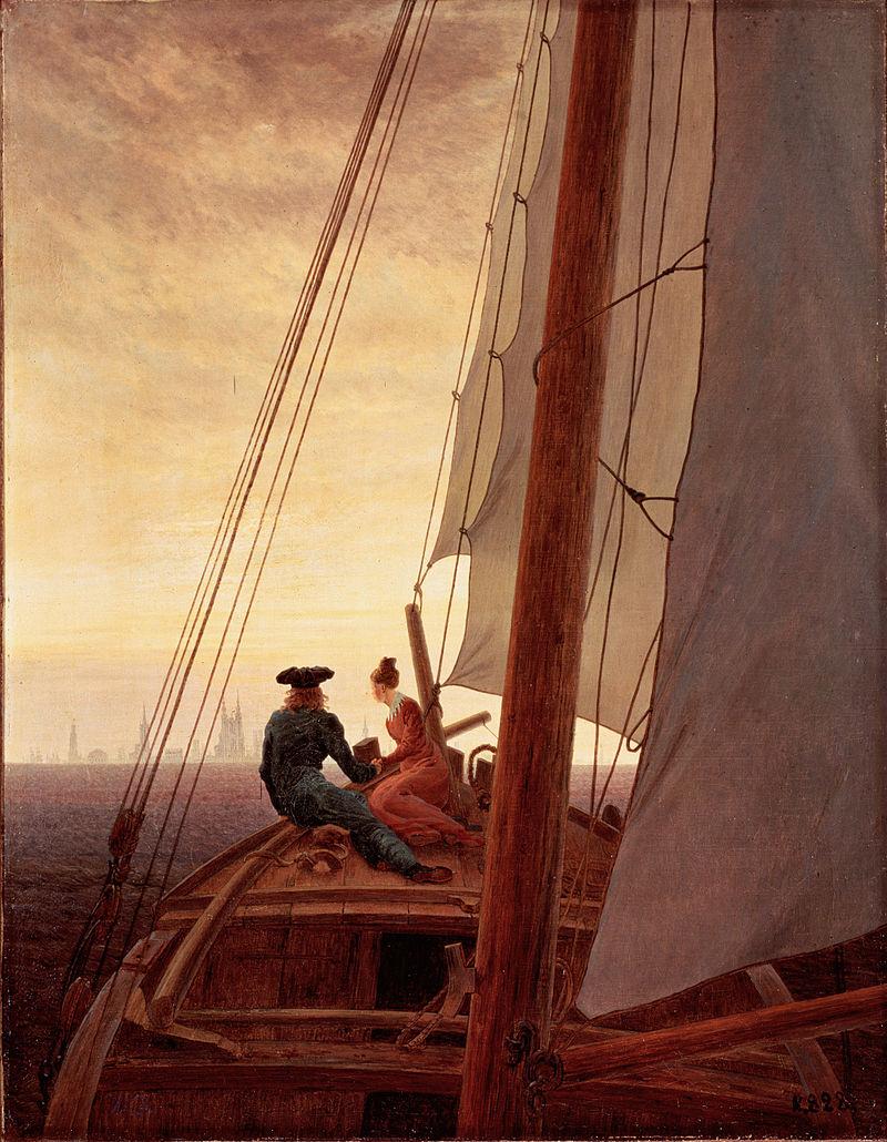 Каспар Давид Фридрих / «На паруснике» / 1818-20