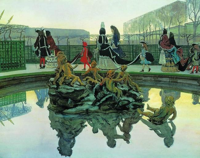 художник Александр БЕНУА (1870-1960) / «Прогулка короля»
