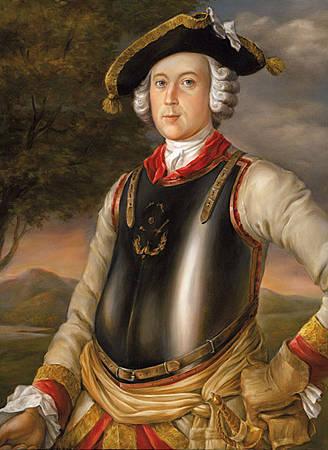 Г. Брукнер / «Карл Фридрих Иероним фон Мюнхгаузен (в мундире кирасира)» / 1752