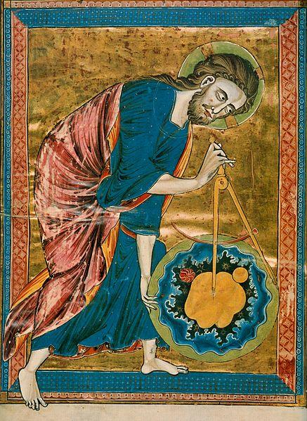 Anonymous / «Бог, архитектор вселенной» / ок. 1220-30
