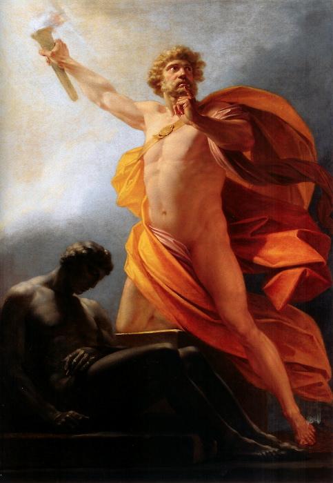 Генрих Фридрих Фюгер / «Прометей несёт людям огонь» / 1817