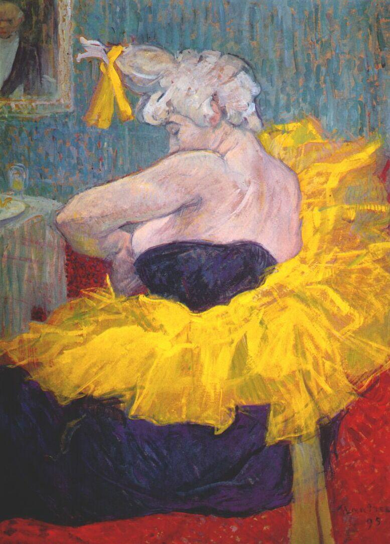 Анри де Тулуз-Лотрек / «Клоунесса Ша-У-Као в Мулен Руж» / 1895