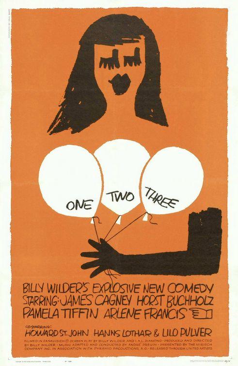 художник Сол БАСС (1889-1924) / плакат к фильму «Один, два, три»