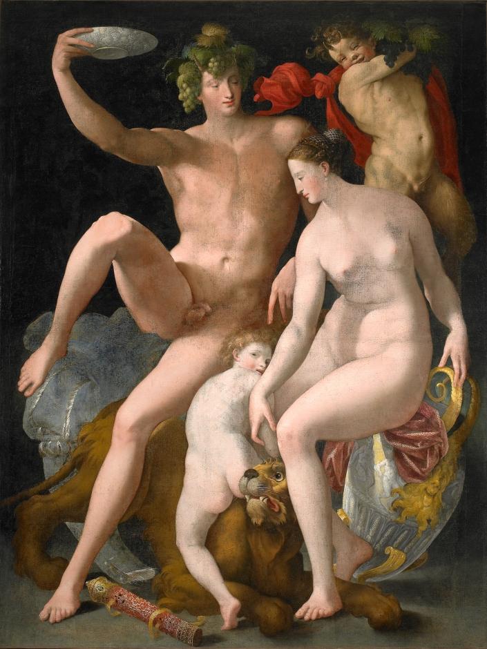 Россо Фьорентино / «Вакх, Венера и Купидон» / 1530