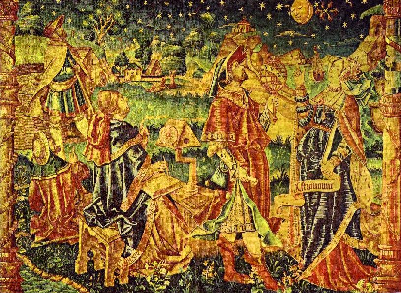 Роберт Хэрри Гентский / «Муза астрологии и астрономии» / Средневековый гобелен