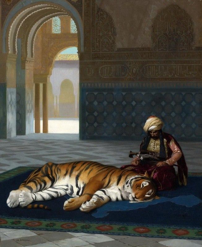Жан-Леон Жером / «Тигр и стражник» / 1881
