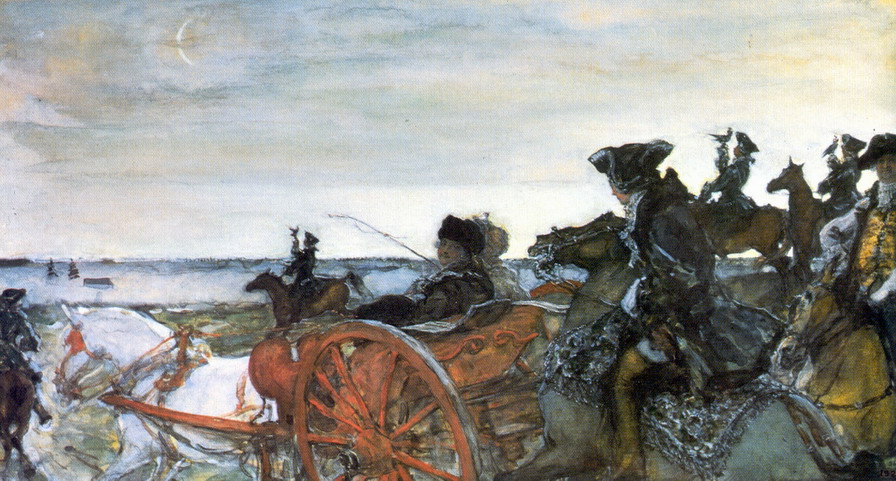 Валентин Серов / «Выезд Екатерины II на соколиную охоту» / 1902