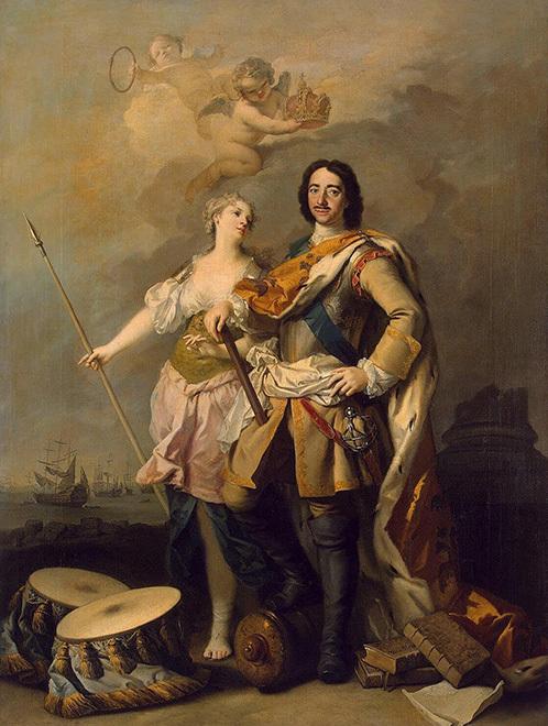 Якопо Амикони / «Портрет императора Петра I с Минервой» / 1732–34