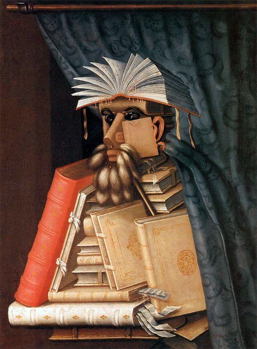 Джузеппе Арчимбольдо / «Библиотекарь» / 1562