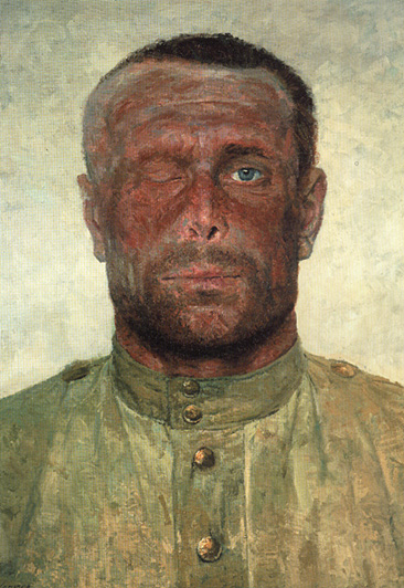 Гелий Коржев / «Следы войны», (Триптих. «Опаленные огнем войны. Левая часть») / 1963-65