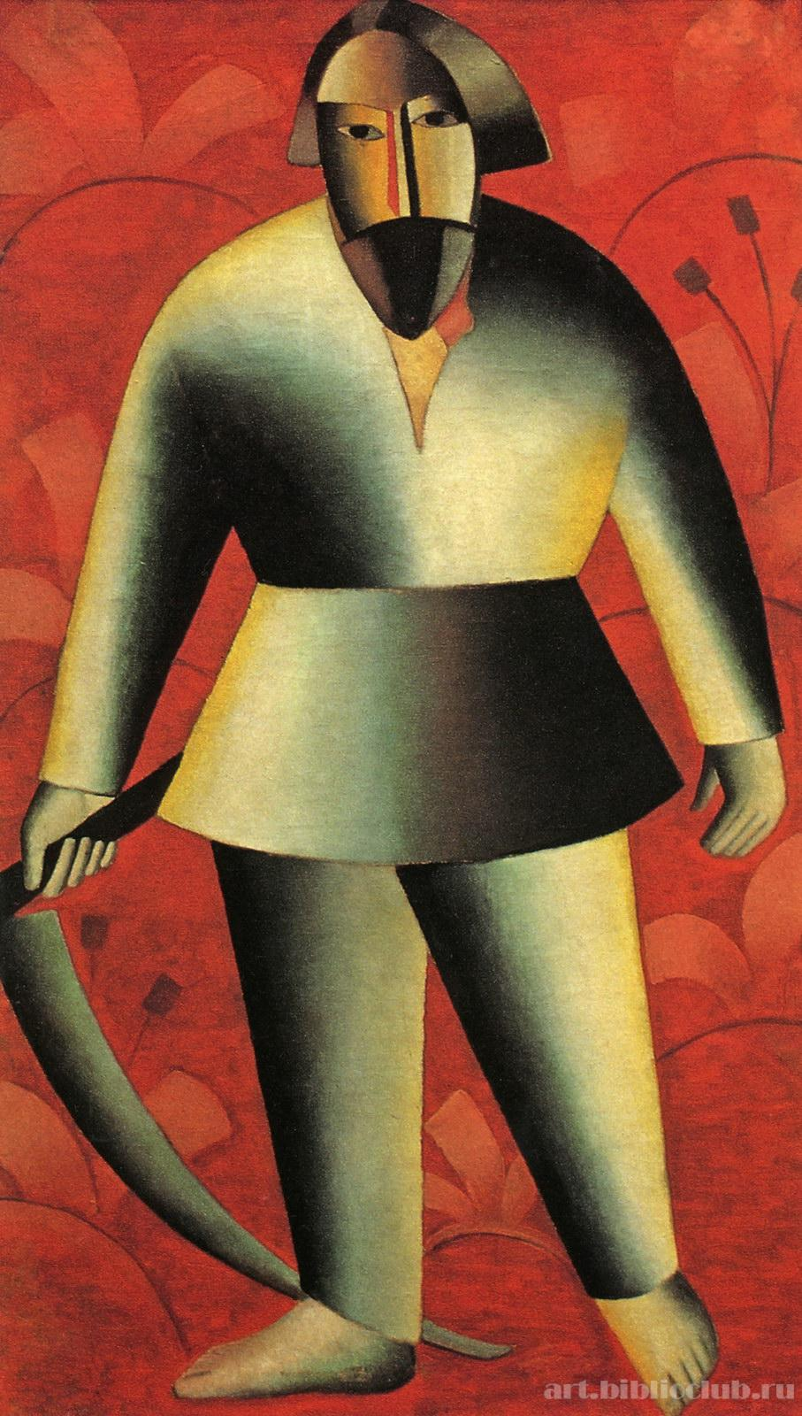 Казимир Малевич / «Жнец на красном фоне» / 1913
