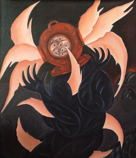 Леонид Тишков / «Водолаз с птицами в голове» / 1986