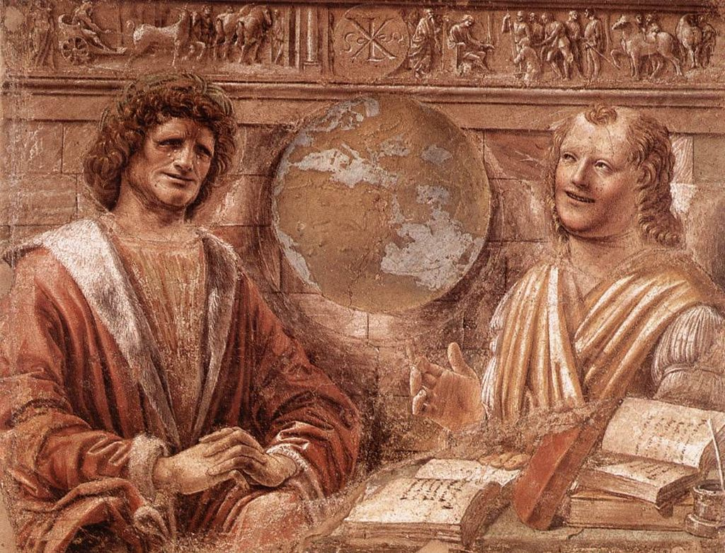 Донато Браманте / «Плачущий Гераклит и смеющийся Демокрит» / 1477