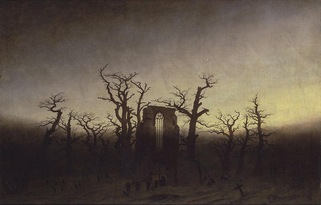 Каспар Давид Фридрих / «Аббатство в дубовом лесу» / 1809-10