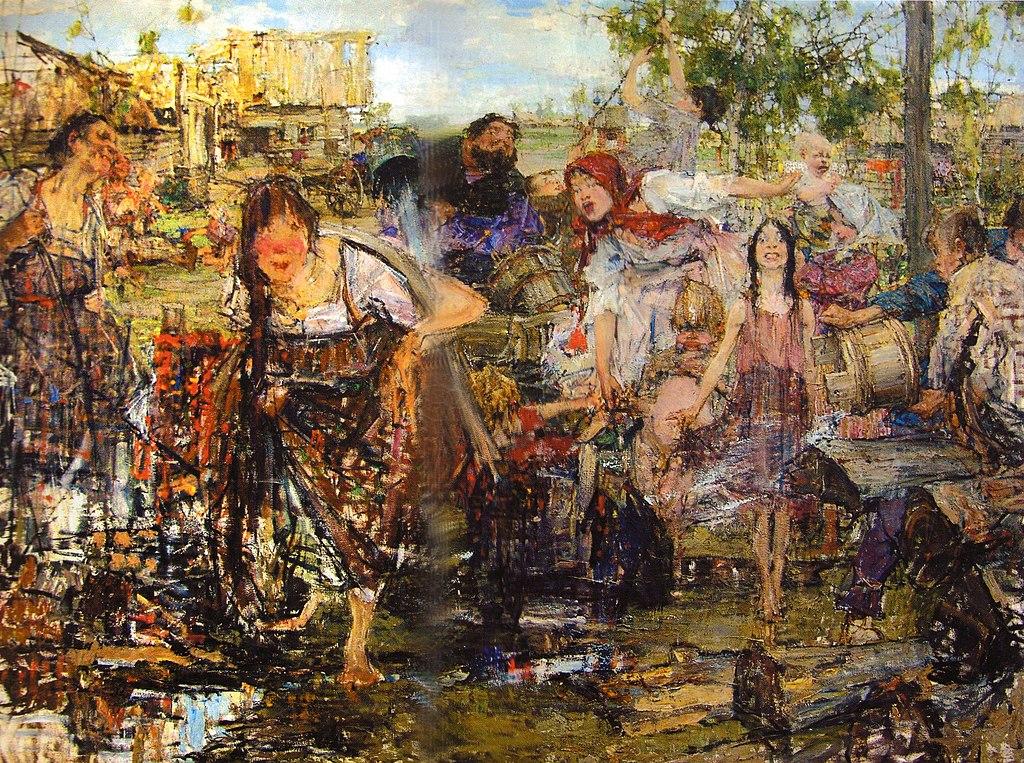 Николай Фешин / «Обливание» / 1914