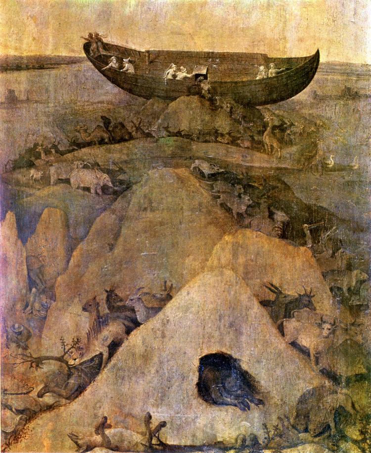Иеронимус Босх / «Ноев ковчег», (фрагмент створки несохранившегося алтаря) / 1508-14