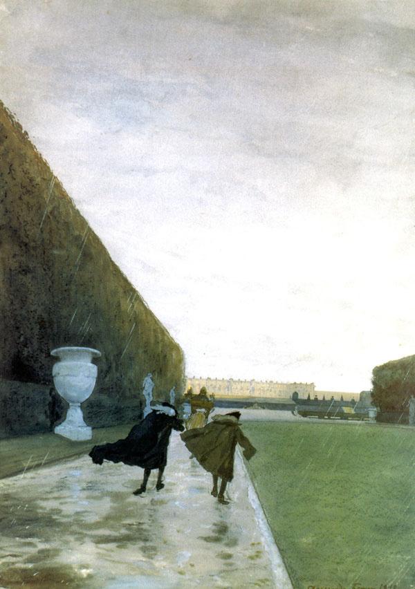 Александр Бенуа / «Король прогуливается в любую погоду» / 1898