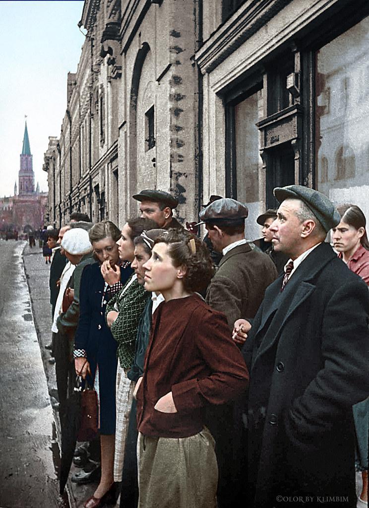Евгений Халдей / «22 июня 1941 года. Объявление о начале Великой Отечественной войны. Москва, улица 25-го Октября», (реконструкция)