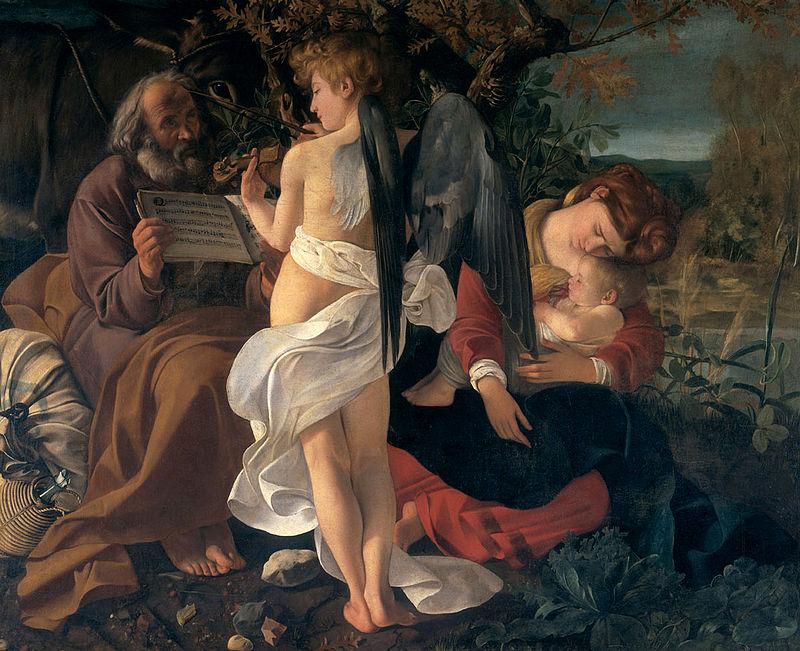 Караваджо / «Отдых на пути в Египет» / 1595-96