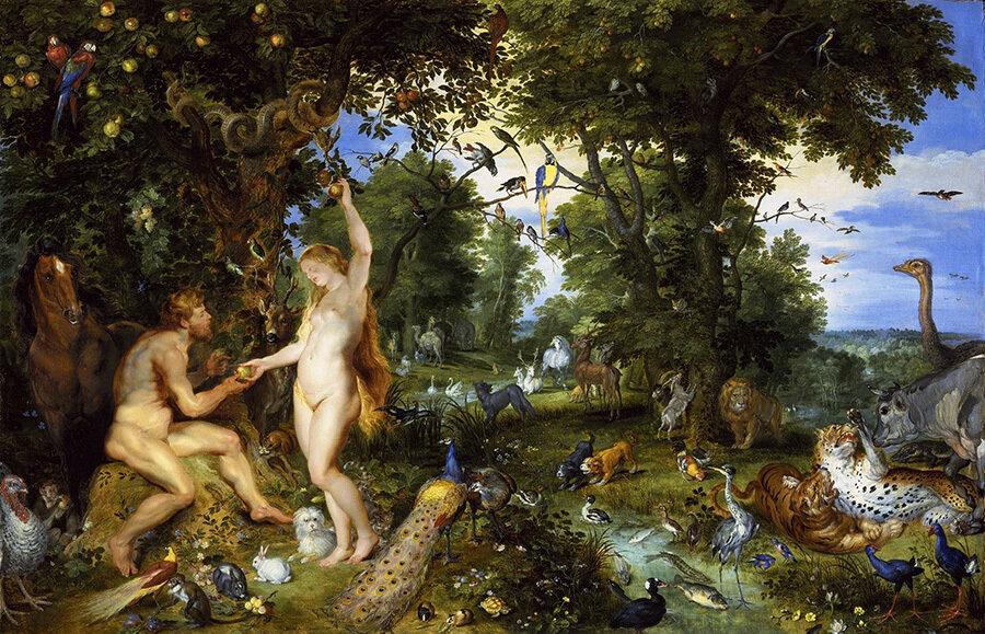 Ян Брейгель & Питер Пауль Рубенс / «Адам и Ева в Райском саду» / 1615