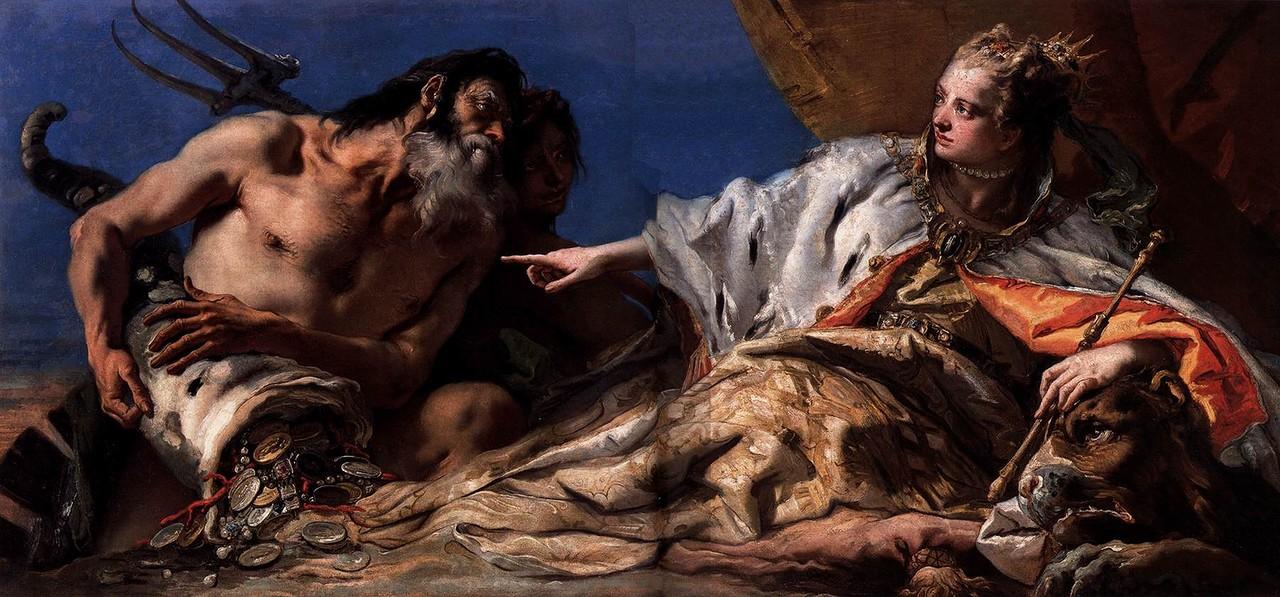 Джованни Баттиста Тьеполо / «Нептун, приносящий дары Венеции» / 1740-е