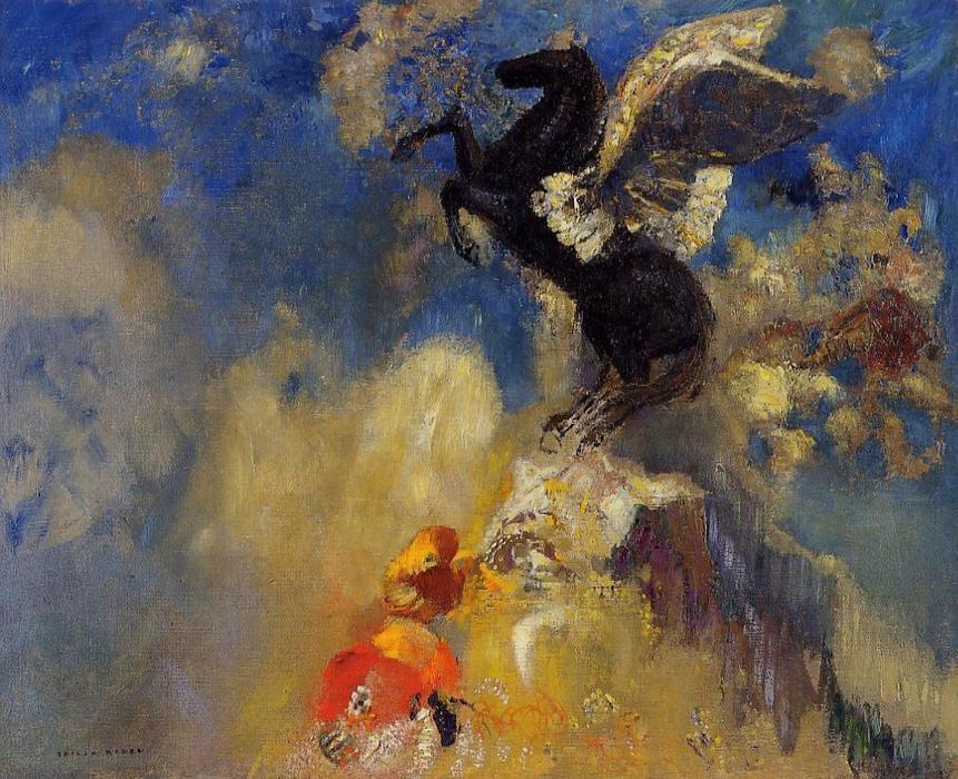 Одилон Редон / «Чёрный Пегас» / 1909-10