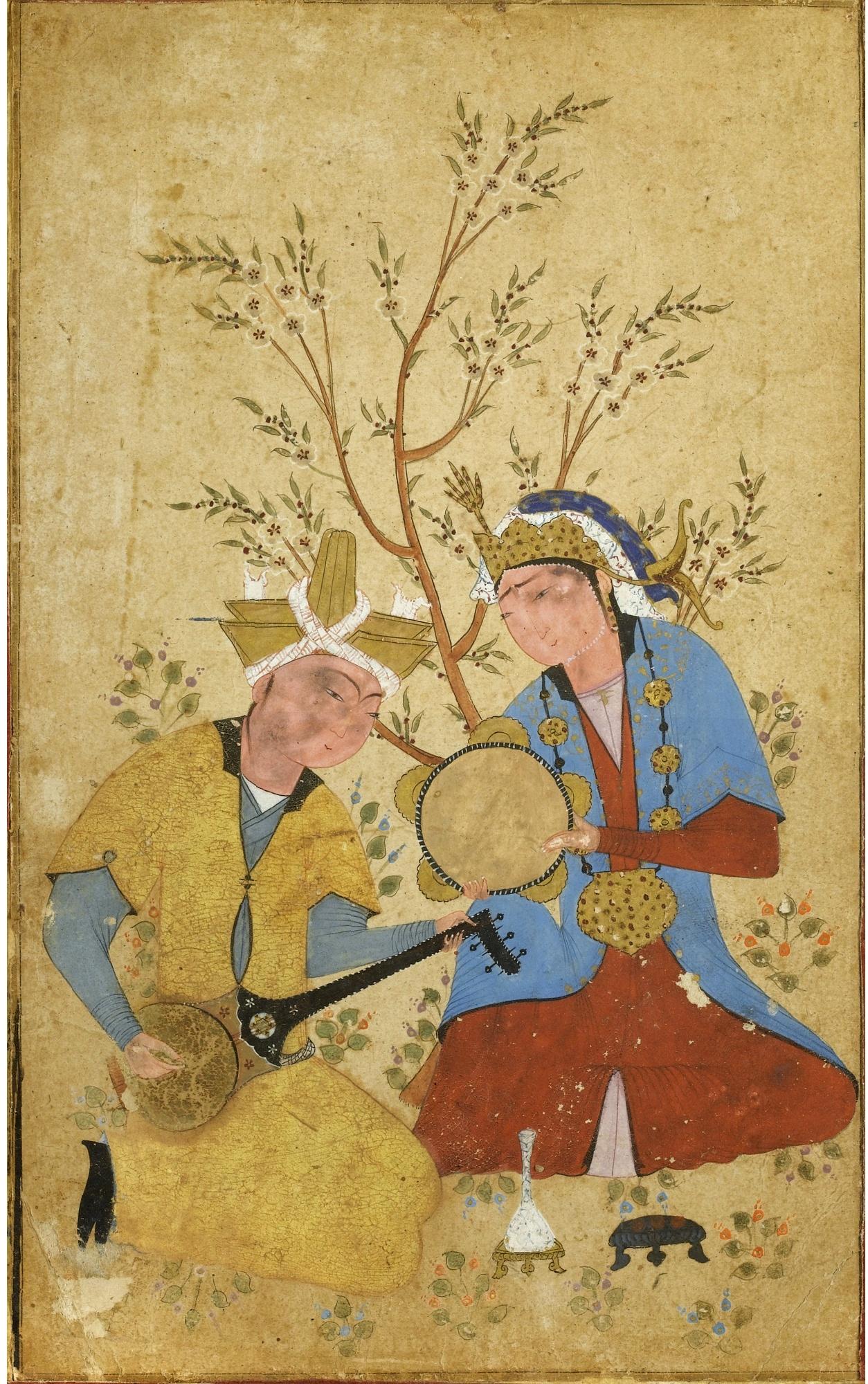 Anonymous / «Два музыканта под деревом» / ок. 1550