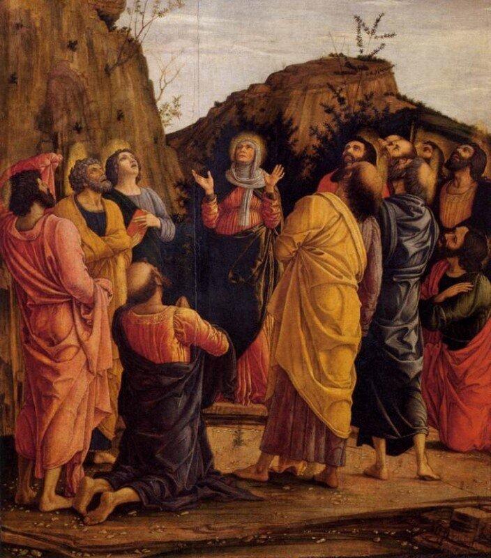 Андреа Мантенья / «Алтарь дворцовой капеллы герцога Мантуанского, сцена: Вознесение», фрагмент / 1461