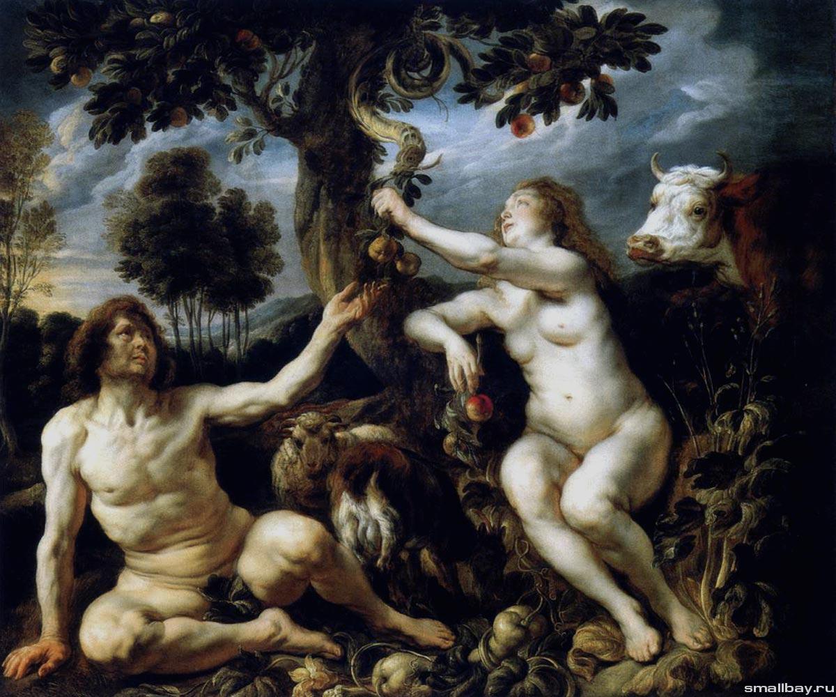 Якоб Йорданс / «Адама и Ева» / 1640