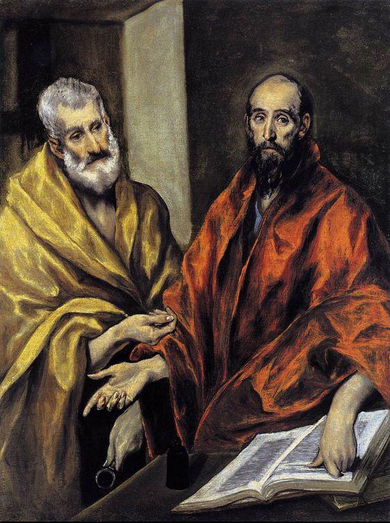 Эль Греко / «Апостолы Пётр и Павел» / 1605-08