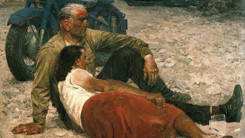 Гелий Коржев / «Влюбленные», фрагмент / 1959