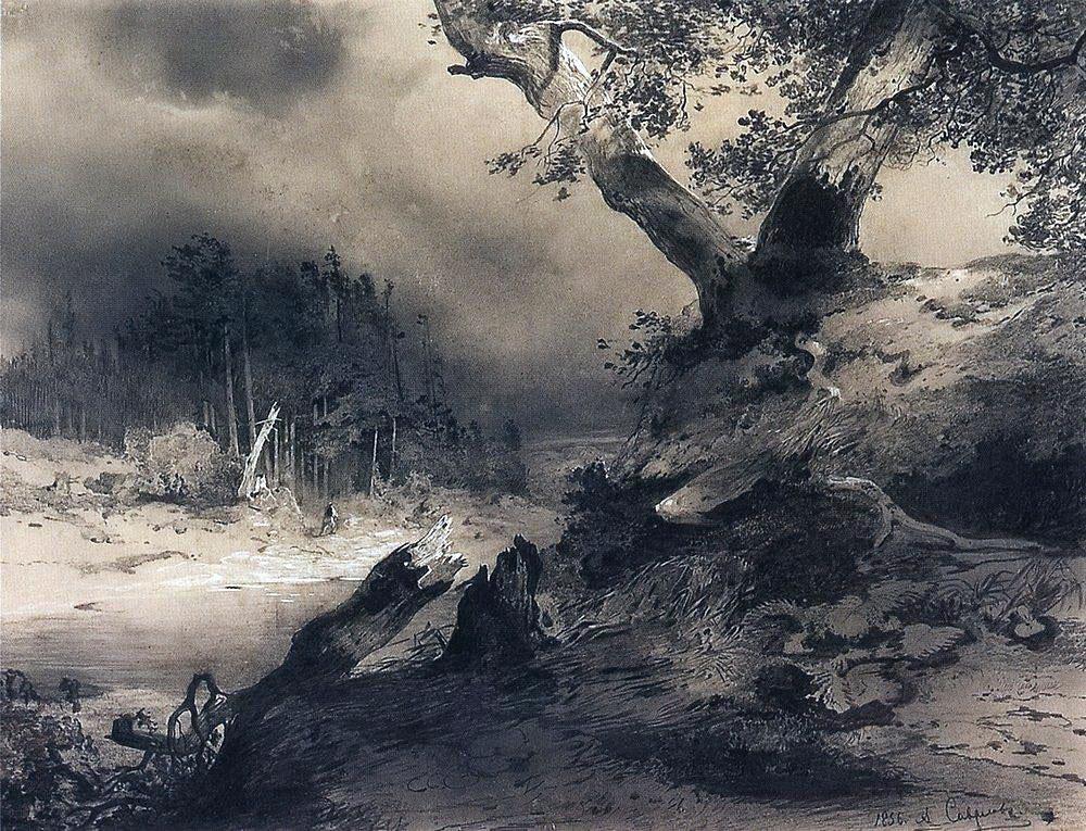 Алексей Саврасов / «Гроза» / 1856