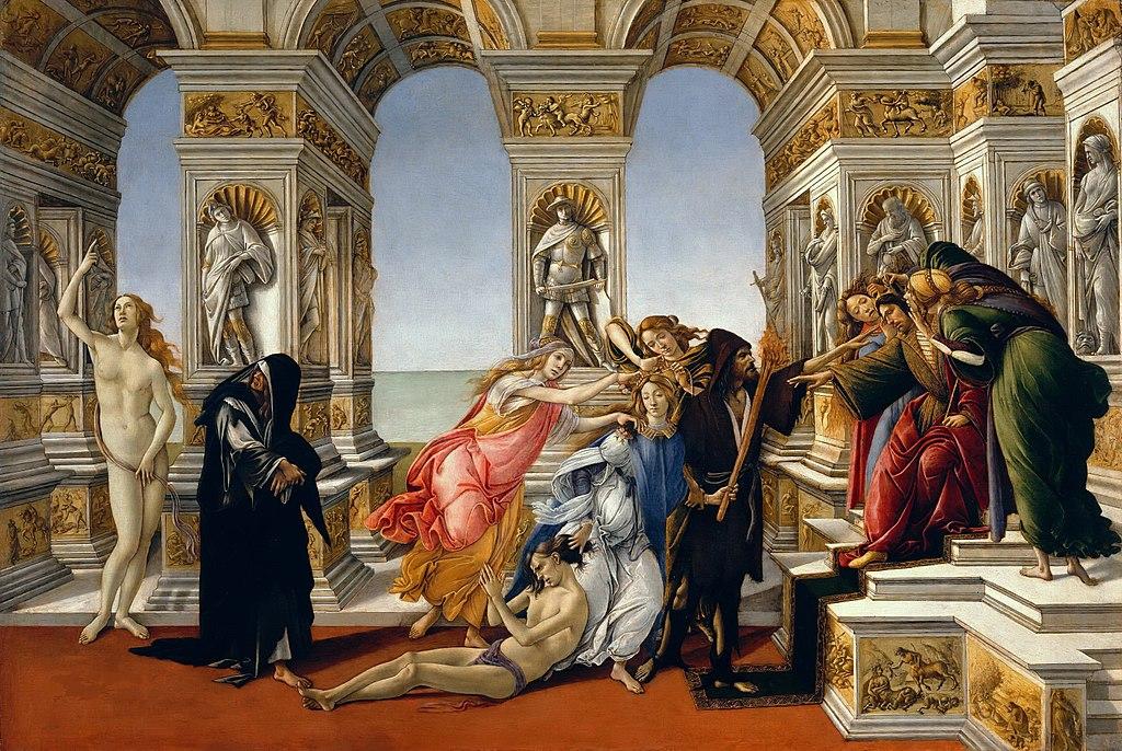 Сандро Боттичелли / «Клевета» / 1495