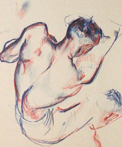 Александр Дейнека / «Боксер Градополов», рисунок к одноименной картине / 1925