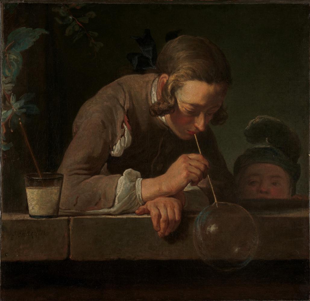 Жан-Батист Симеон Шарден / «Мыльные пузыри» / 1734