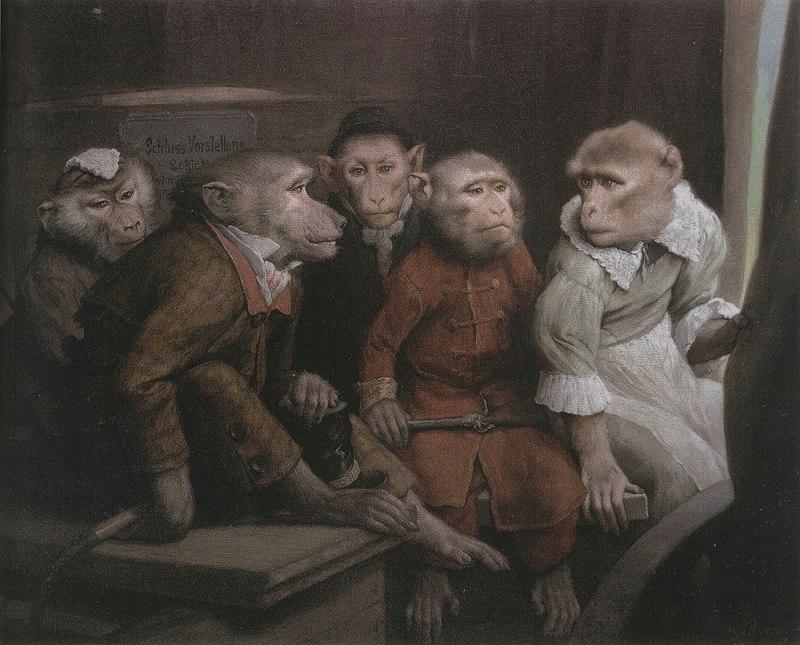 Габриэль фон Макс / «Последнее представление» / 1885