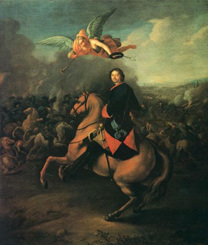 Иоганн Готфрид Таннауэр / «Пётр I в Полтавской битве» / 1710