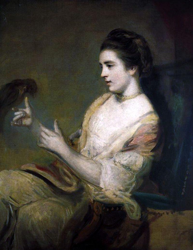 художник Джошуа РЕЙНОЛЬДС (1723-1792) /«Китти Фишер с попугаем»