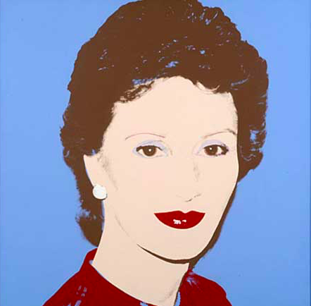 Энди Уорхол / «Портрет Кронпринцессы Сони» / 1982