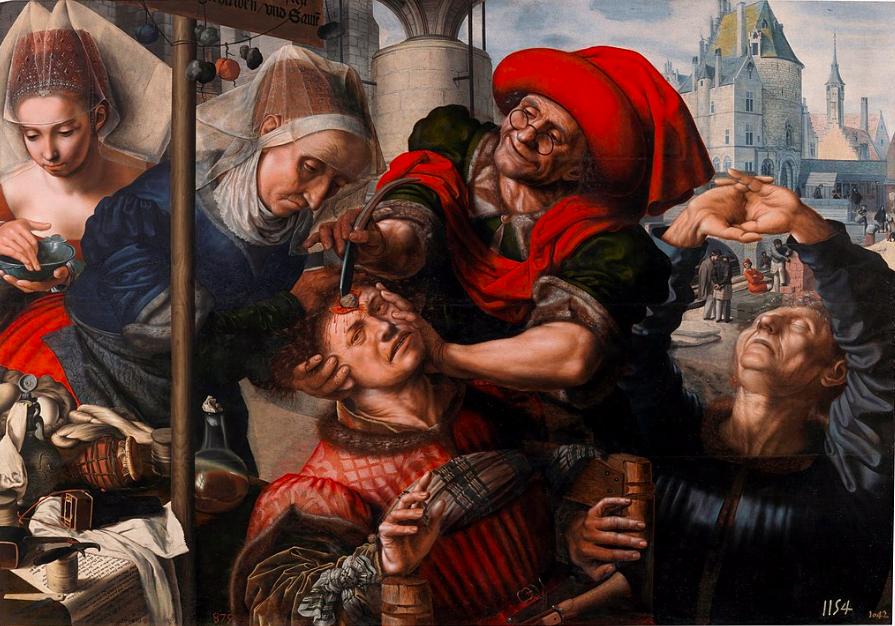 Ян Сандерс ван Хемессен / «Удаление камня глупости» / 1550-55