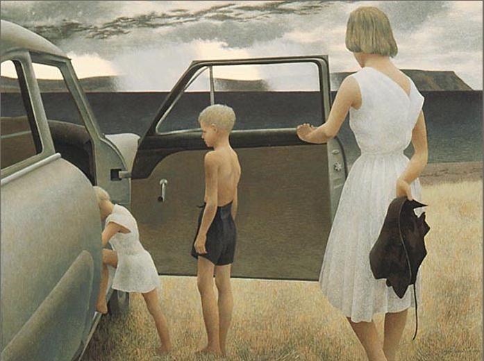 Алекс Колвилл / «Семья и внезапный дождь» / 1955