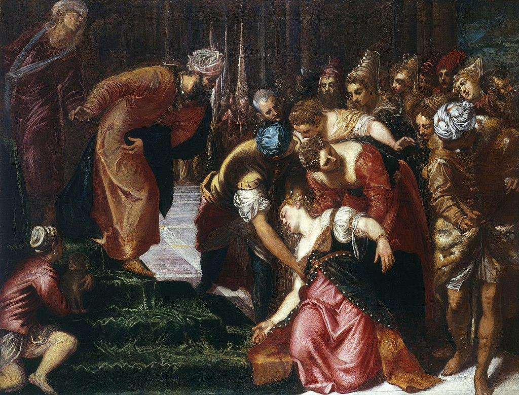 Тинторетто / «Эсфирь перед Артаксерксом» / 1546-47