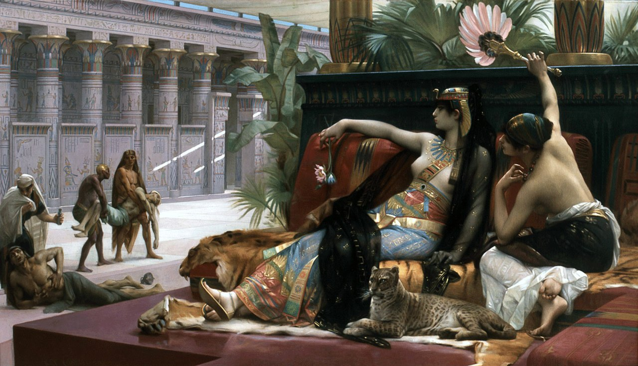 художник Александр КАБАНЕЛЬ (1823-1889) / «Клеопатра испытывает яд на узниках»